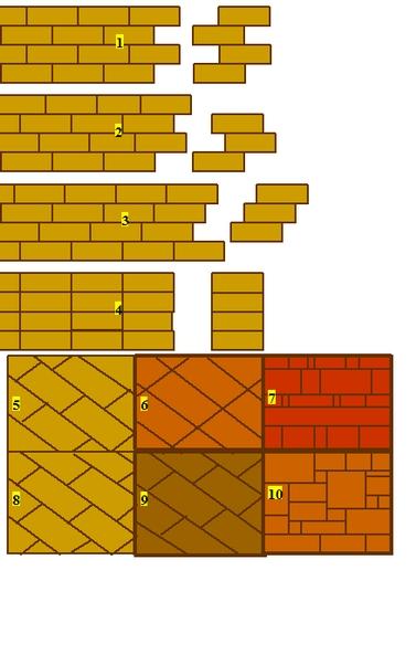 Verlegearten - Verlegearten platten